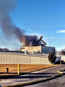 Omaha Police took this photo of the plant where the explosion happened.
