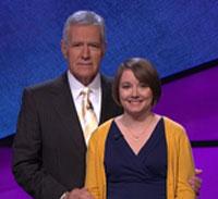 Sarah McNitt with Alex Trebek.