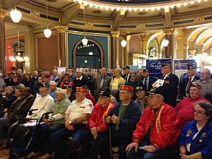 Veterans at the state capitol.