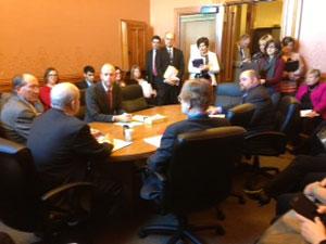 Senate subcommittee discusses ban on e-cigarettes.