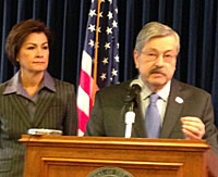 Governor Terry Branstad with Lt. Governor Kim Reynolds.