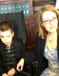 Maria LaFranze and her son Quincy.