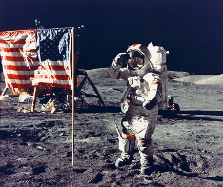 Capt. Gene Cernan on the moon
