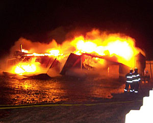 Attempts to save the 70-year-old barn failed.
