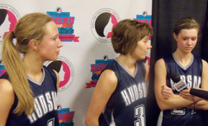 Casey Miles, Amanda Cartney, Lindsey Koch of Hudson. (L-R)