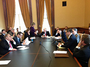 Review panel meeting at the statehouse.