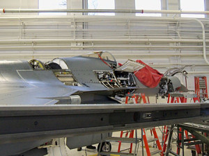 F-16 torn down for repair.
