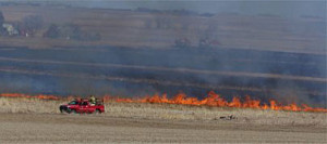 This fire charred 50 acres in northwest Iowa.