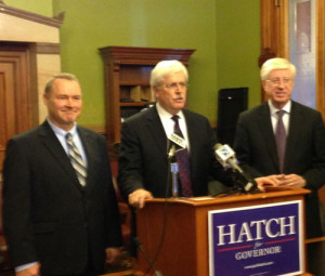 State Treasurer Mike Fitzgerald, Jack Hatch, Attorney General Tom Miller. (L-R)