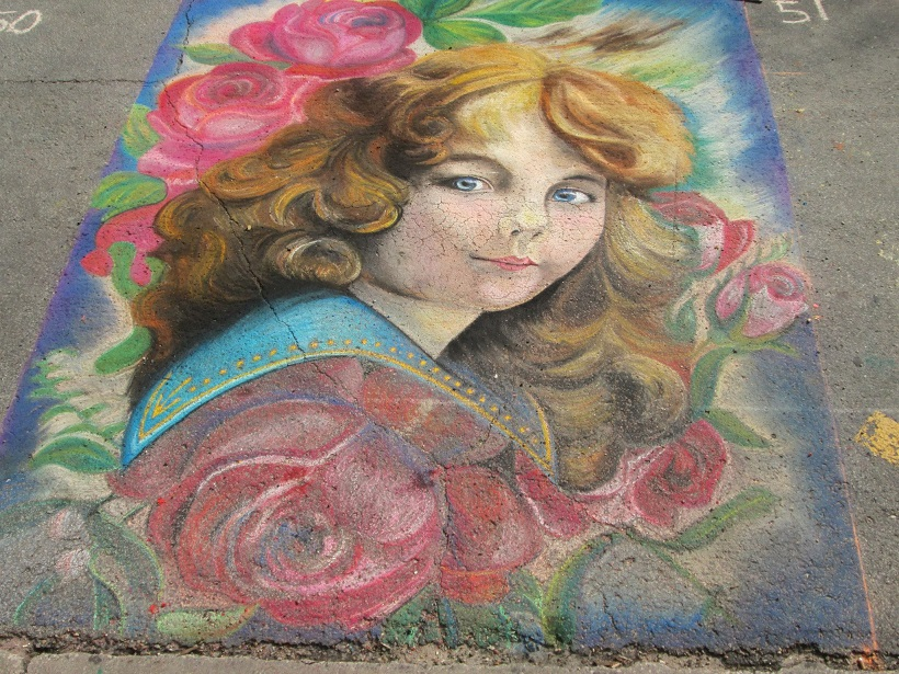 Chalk art by Nina Scott in 2013