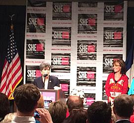 Joni Ernst and Sarah Palin. (L-R)