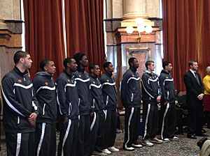 The Cyclone basketball team and Coach Fred Hoiberg were honored by the Iowa House  and Senate.