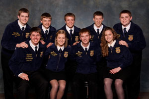 State FFA officers.