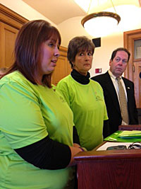 Jennifer Mehlert & Diane McIntosh of La Porte City with Rep. Kressig.