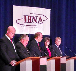 Matt Whittaker, Sam Clovis, Scott Schaben, Joni Ernst and Mark Jacobs. (L-R File photo)