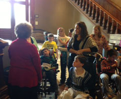 Mothers of children with intractable epilepsy lobby House GOP Leader Linda Upmeyer, (in red), to bring bill up for a vote that would decriminalize possession of cannabidiol.