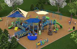 Design view of the Okland playground.