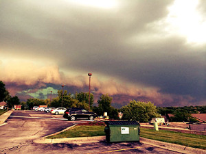 Storm clouds in western Iowa.
