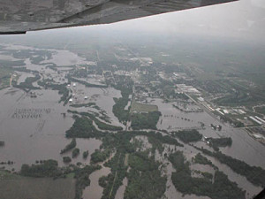 The Governor's office released this aerial photo of the Rock Valley flooding.