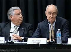 Regent Larry McKibben and Rick Ferraro of Deloitte. (L-R)