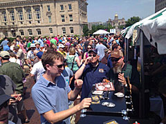 Beer tasting at the 2013 Craft Brew Festival.