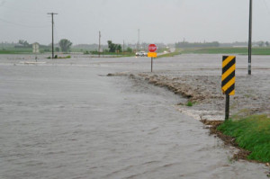 The Fayette County Sheriff's Department took this picture of the flooding.