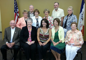 The Dysart delegation. Mayor Pam Thiele is second from the left .