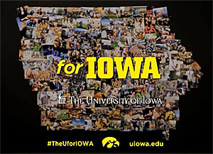The University of Iowa is spending $765,000 on a marketing campaign.