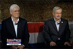 Democrat Jack Hatch  and Republican Terry Branstad. (L-R)