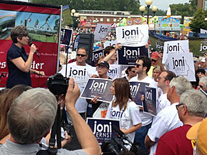 Joni Ernst at the Iowa State Fair.
