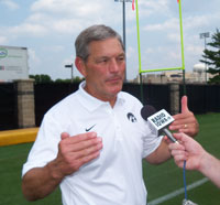 Iowa football coach Kirk Ferentz talks about the upcoming season.