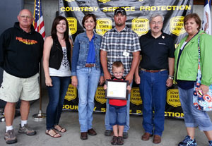 Seth Thompson with the Governor, Lt. Governor and his family.
