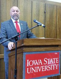 ISU president Steven Leath.