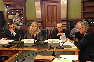 Senator Matt McCoy, Senator Janet Peterson, Senator Brian Shoenjahn.