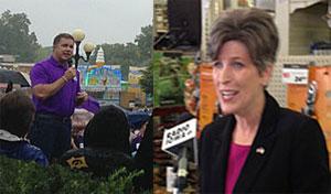 Democrat Bruce Braley and Republican Joni Ernst remain deadlocked in their U.S. Senate race.