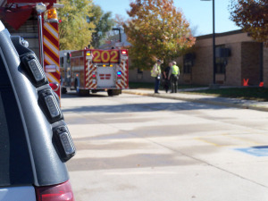 Fire forced the evacuation of the Bunger Middle School in Evansdale.