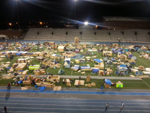 Reggie's Sleep Out Drake Stadium 2013.
