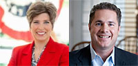 Republican Joni Ernst, Democrat Bruce Braley.