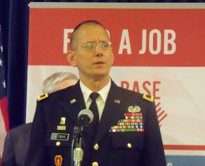 Brigadier General Steve Altman of the Iowa National Guard.