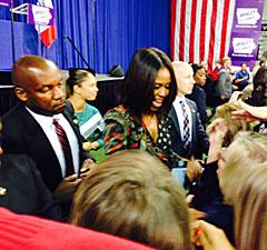 Michelle Obama at Drake University.