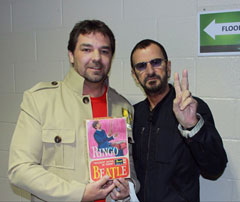 Rob Kuhn of Wayback Records with Ringo Starr.