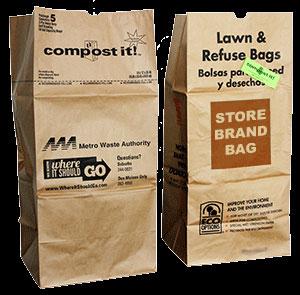 Yard waste bags.