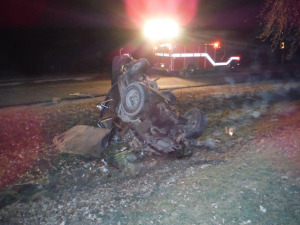 One person died and two were injured in this pickup accident in Fayette County.