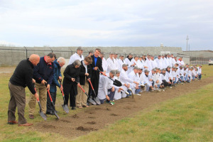 Kemin leaders broke ground Wednesday for a new facility.