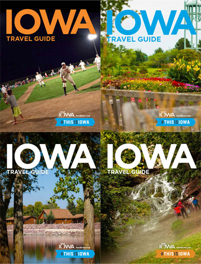 The choices for the next Iowa Travel Guide cover.
