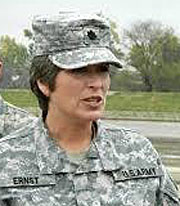 Senator-elect Joni Ernst in her Iowa National Guard Uniform.