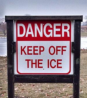Keep-off-ice