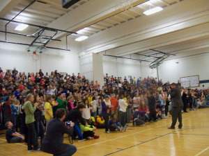 Merrill Middle School students in Des Moines react to the announcement.