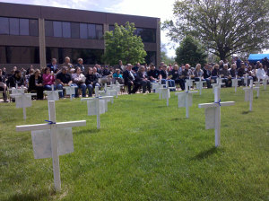 Annual workers memorial ceremony in Des Moines.