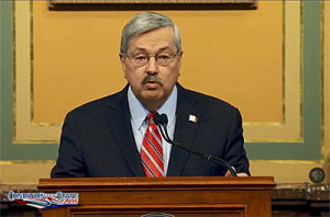 Governor Branstad delivers his State of the State address.